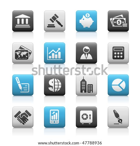Business & Finance Web Icons // Matte Series - stock vector