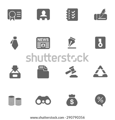 business & finance web Icons set - stock vector
