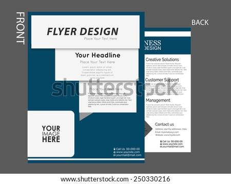business flyer, brochure, Magazine cover, marketing material vector template can be used for print and publishing.