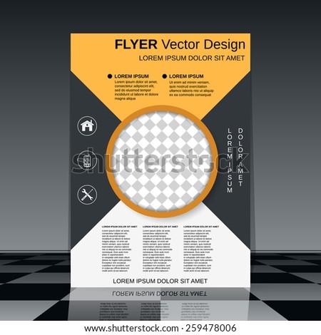 Business flyer design. Brochure cover, banner, booklet vector template. - stock vector