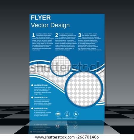 Business flyer design. Brochure cover, poster, booklet vector template. - stock vector