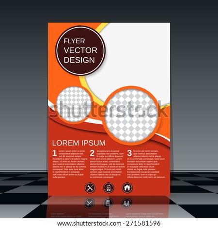 Business flyer design. Brochure, magazine cover, poster, booklet vector template. - stock vector