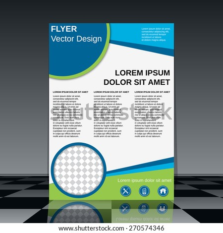 Business flyer design. Brochure or magazine cover, booklet, poster vector template. - stock vector