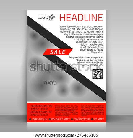 Business flyer design poster template vector stock vector 275483105 business flyer design poster template vector layout with red and gray diagonal elements flashek Gallery