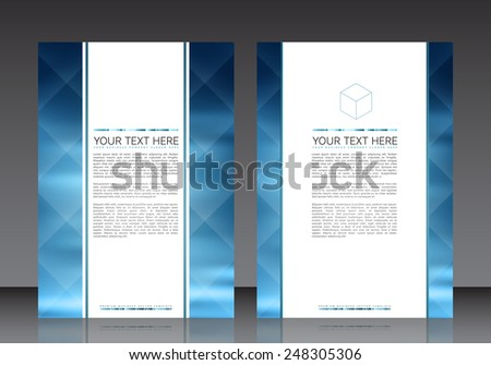 Business Flyer Template | EPS10 Vector Design - stock vector