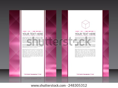 Business Flyer Template | EPS10 Vector Design - stock vector