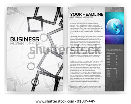 Business Flyer Template - EPS10 Vector Design - stock vector