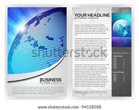 Business Flyer Template - EPS10 Vector Design - stock vector