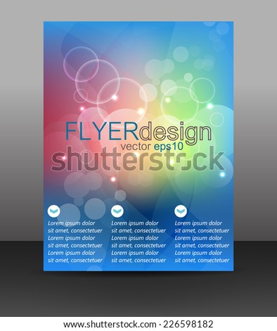 Business flyer template or corporate banner, brochure or cover design/design with place for your content or creative editing.