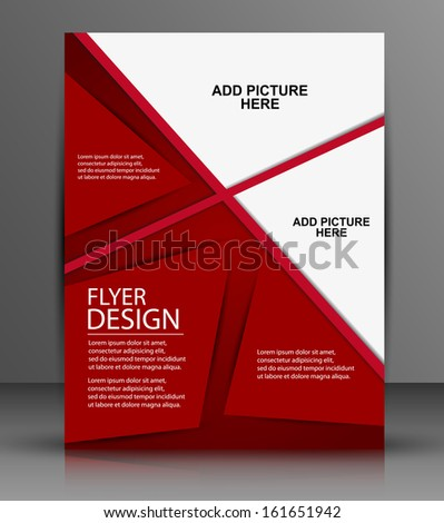 business flyer template or corporate banner design,  for publishing, print and presentation. EPS 10. - stock vector