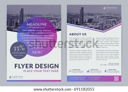 Business Flyer Templates Vector Design City Stock Vector Hd Royalty
