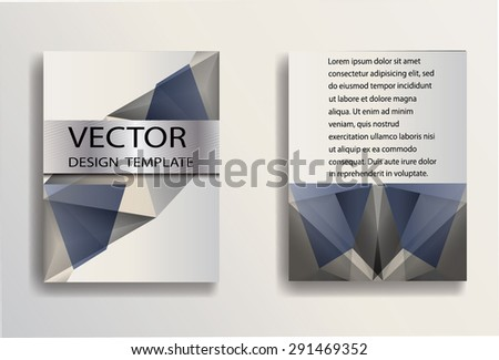 Business Flyer Templates with Geometric Triangular Background. Corporate Identity Banner Design. Vector Illustration.  - stock vector