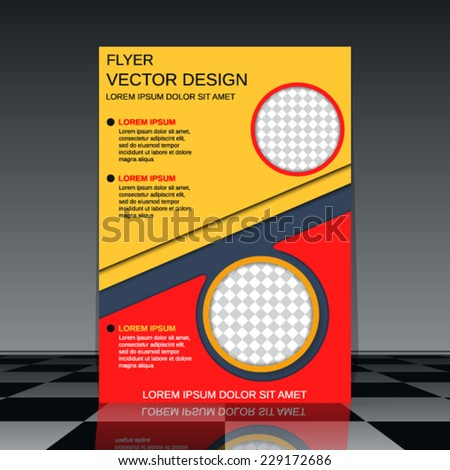 Business flyer vector template. Abstract brochure cover design. - stock vector