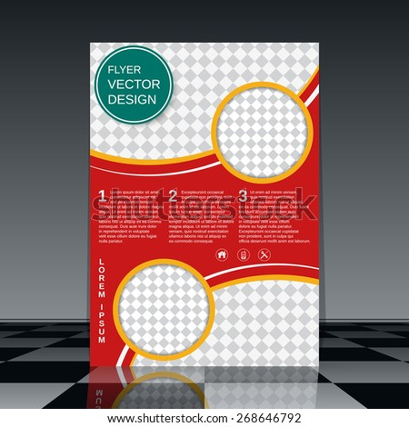 Business flyer vector template. Brochure cover, booklet, poster abstract design. - stock vector