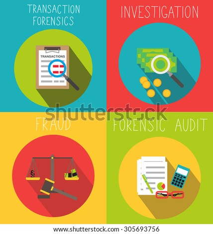 Business forensic services - stock vector