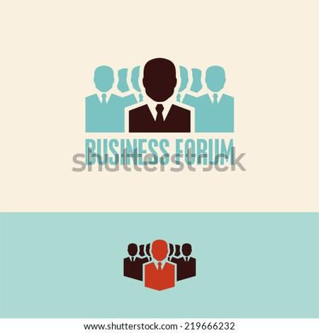 Business forum. Meeting. - stock vector