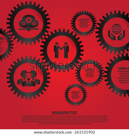 Business Gears Infographic - Illustration - stock vector