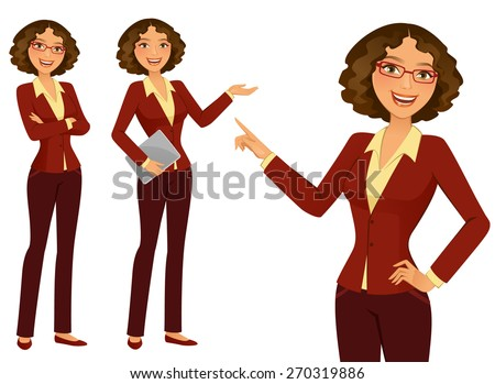 Business Girl - stock vector