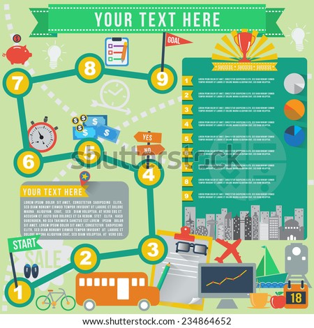 Business goal infographics, vector format - stock vector