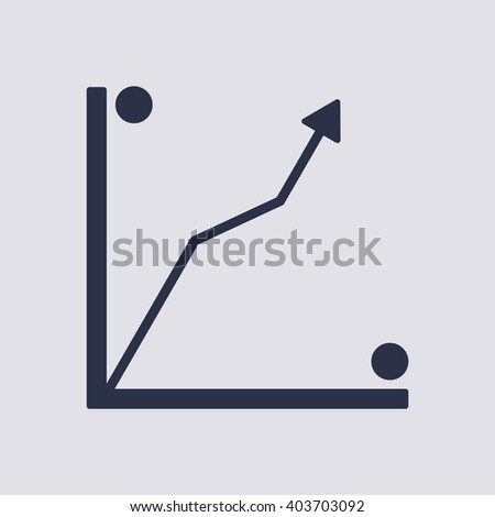 Business graph and chart  icon, vector illustration. Flat design style  - stock vector