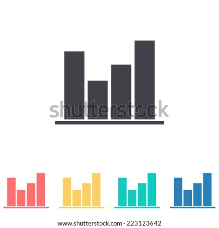 business graph icon - stock vector