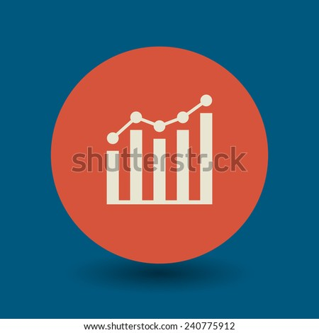 Business graph icon or sign, vector illustration - stock vector