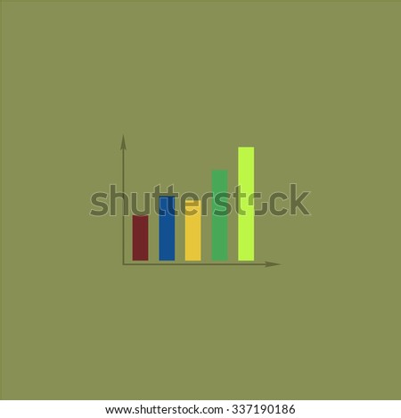 Business graph. Icon Vector. Icon Picture. Icon Graphic. Icon Art. Icon JPG. Icon JPEG. Icon EPS. Icon AI. Icon FLAT. Icon SIMPLE - stock vector