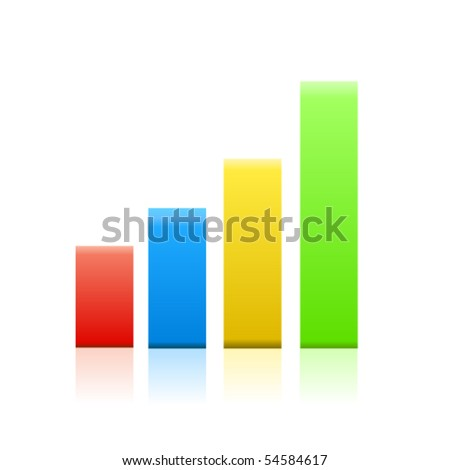 Business graph. Vector