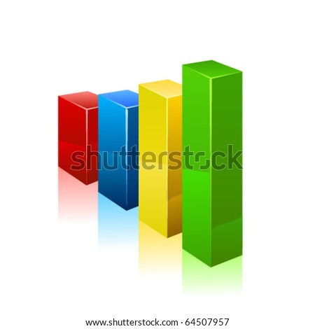 Business graph. Vector - stock vector