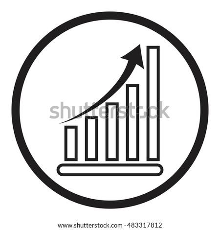 Business Graph Vector Growth Progress Arrow Stock Vector 483317812