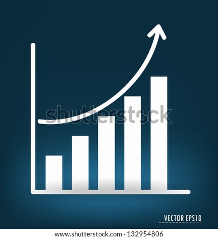 Business graph. Vector illustration. - stock vector