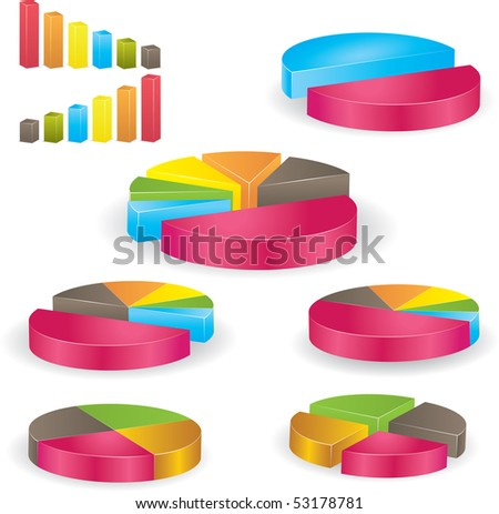 Business graph. Vector Illustration - stock vector