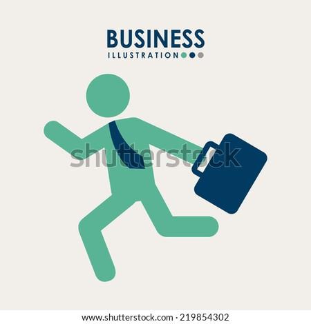 business graphic design , vector illustration - stock vector