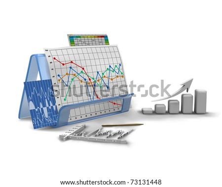 business graphic, diagram, bar, chart - stock vector