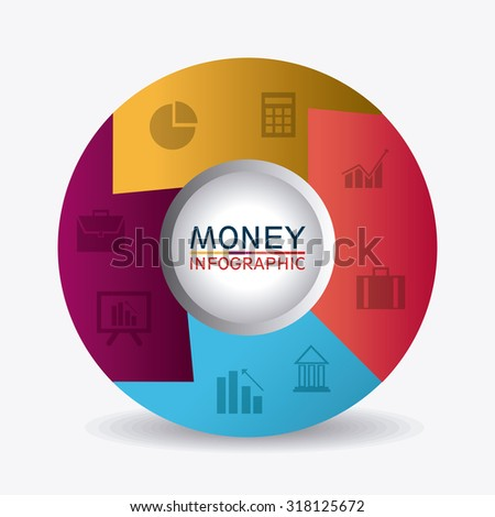 Business growth and money savings infographics design, vector illustration