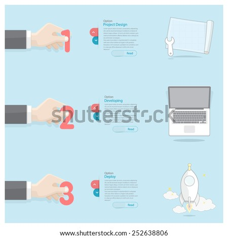 Business Hand Infographics - stock vector