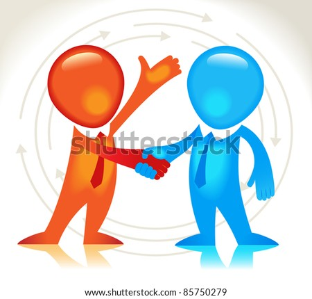 Business hand shake. The business agreement - stock vector