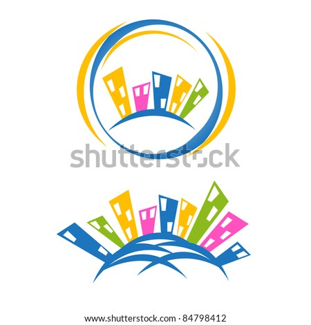 business house icon design - stock vector