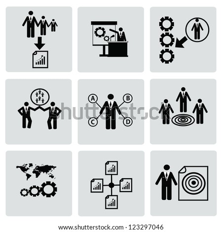 Business,Human resource,icon set,Vector - stock vector