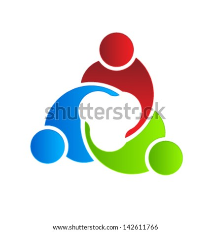 Business icon design. Business Meeting 3 - stock vector