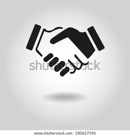 Business icon friendship - stock vector