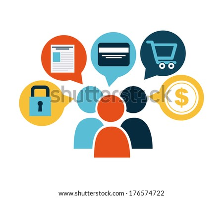 business icon over white   background vector illustration - stock vector