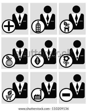 Business icon,resource,personal on white background,Vector - stock vector