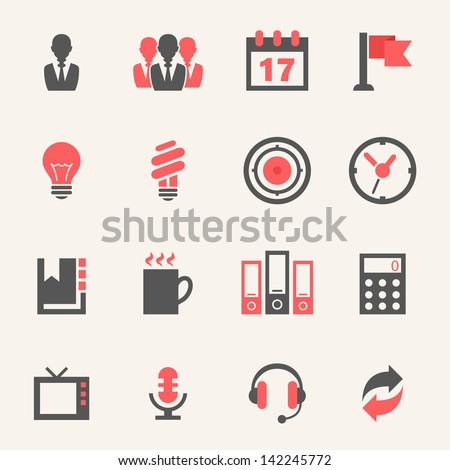 Business. Icon set - stock vector