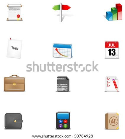Business icon set#2 - stock vector