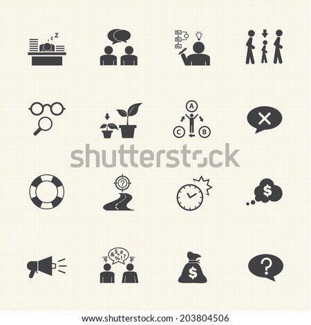 Business icon set, Personality traits - stock vector