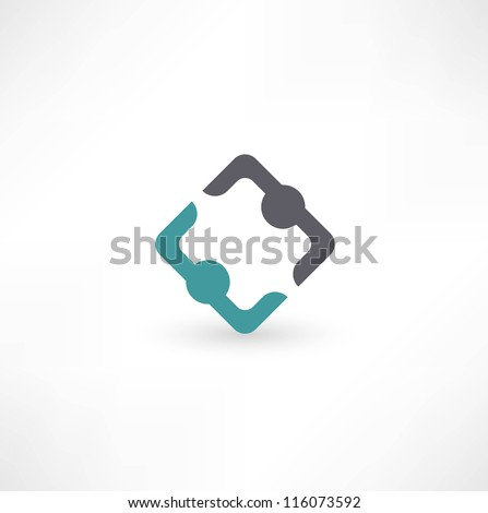 Business icon. Transaction. - stock vector