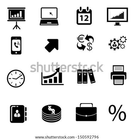 business icon.web icon set - stock vector