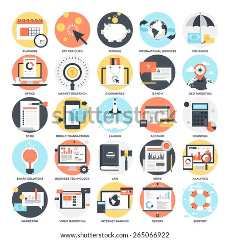 Business Icons. - stock vector