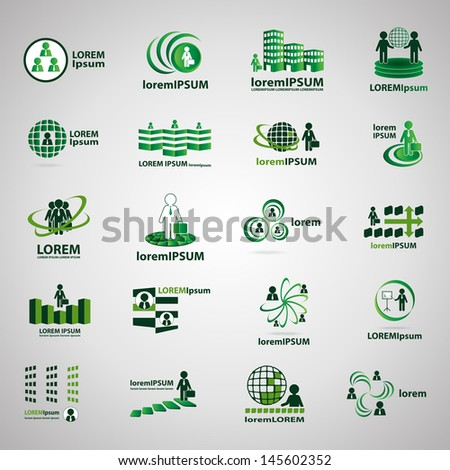 Business Icons, Human Resources And Management - Set - Isolated On Gray Background - Vector Illustration, Graphic Design Editable For Your Design. Business Logo - stock vector